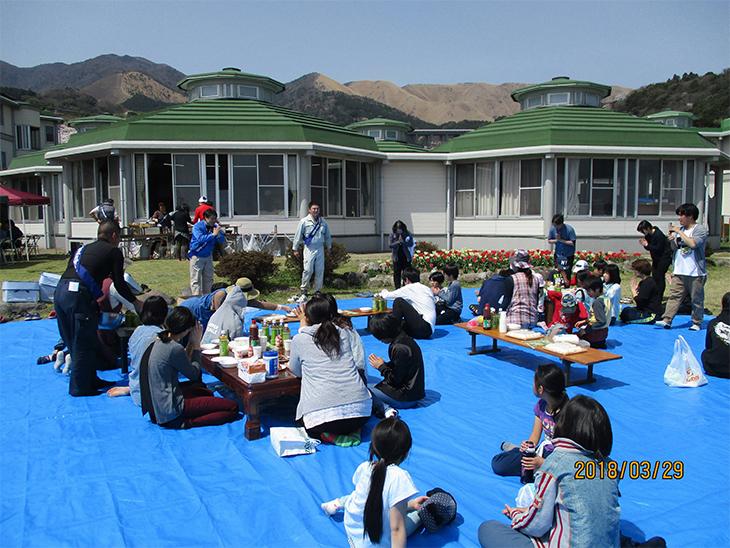 児童福祉施設「別府平和園」奉仕作業