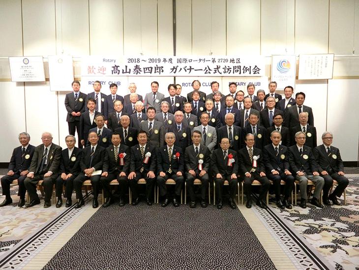 熊本第3グループ ガバナー公式訪問を終えて(熊本RC集合写真)