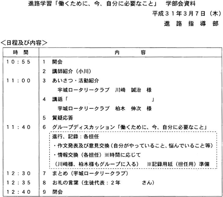 松橋支援学校のキャリア支援(宇城RC)