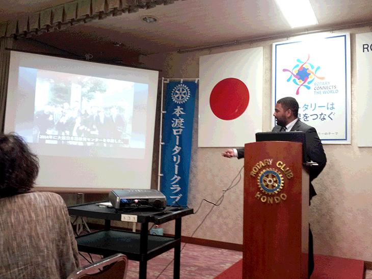 米山奨学生卓話で訪問(熊本東RC)