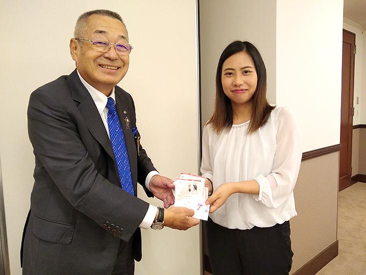 グローバル補助金奨学生林陽香さんのオリエンテーション