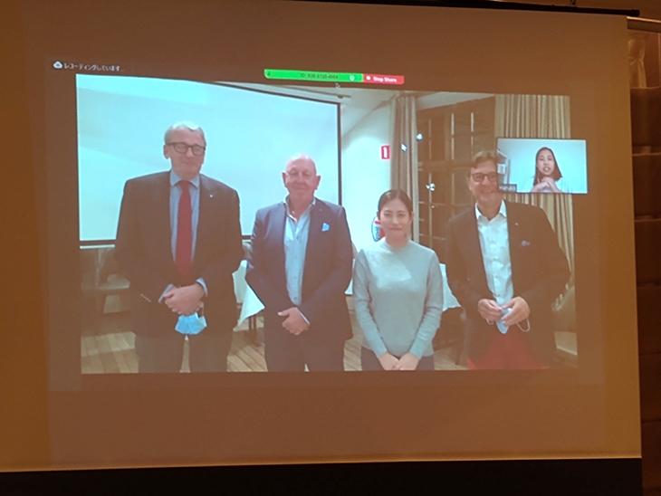グローバル補助金奨学生林陽香さんのズームによる卓話(熊本西稜RC)